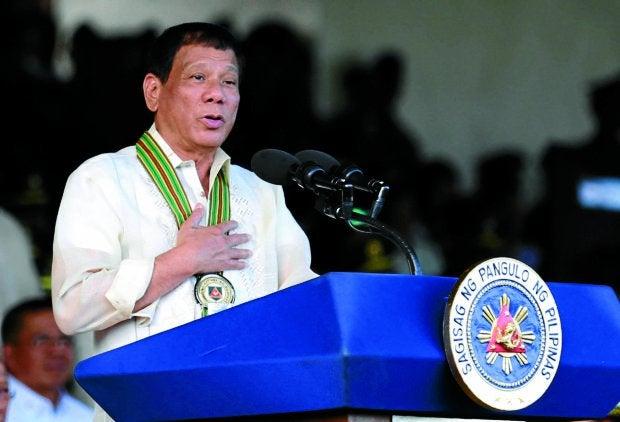 President Rodrigo Duterte-- April 4. 2017