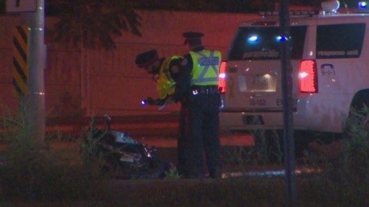 Motorcyclist dead after crash with car in Toronto's east end