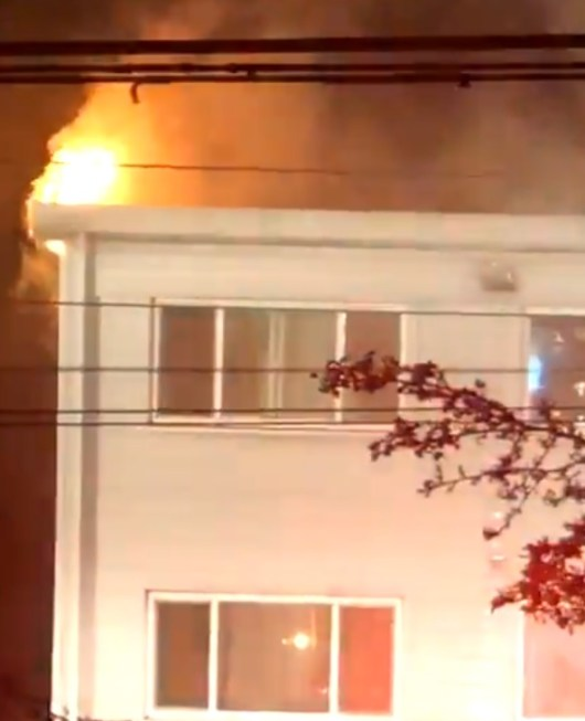 Vancouver firefighters battle two residential building blazes