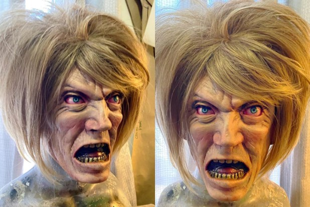 A 'Karen' Halloween mask is shown in this image from Aug. 7, 2020.