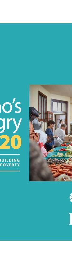 Who's Hungry 2020 report reveals that prior to COVID-19, food bank use had already increased by 5% compared to the previous year with close to one million visits in the city of Toronto.