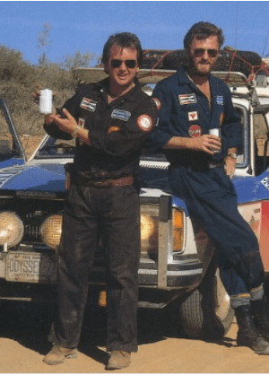 Ken Langley (left) and Garry Sowerby (right) in Australia with Red Cloud.