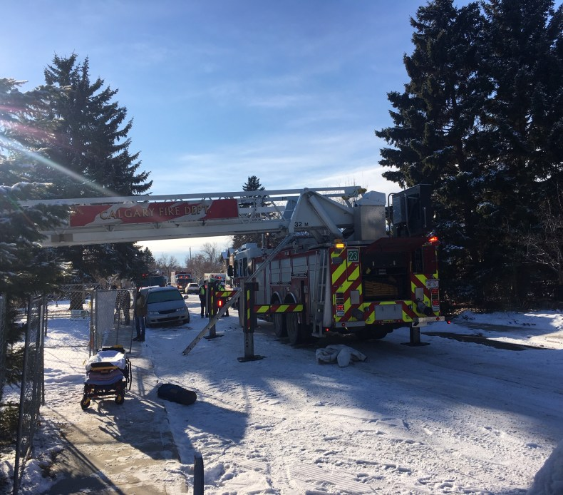 EMS and members of the Calgary Fire Department were called to a home under construction in the 3200 block of 5 Street N.W. Friday, Nov. 20, 2020.