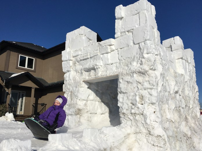 The Your Saskatchewan photo of the day for Feb. 26 was taken by Jason Greer of a 12-foot tall snow castle in Saskatoon.