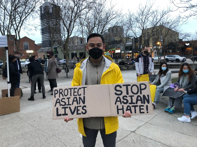 Ken Pham shared a speech during the rally and vigil that touched on misrepresentation of culture and people in media.