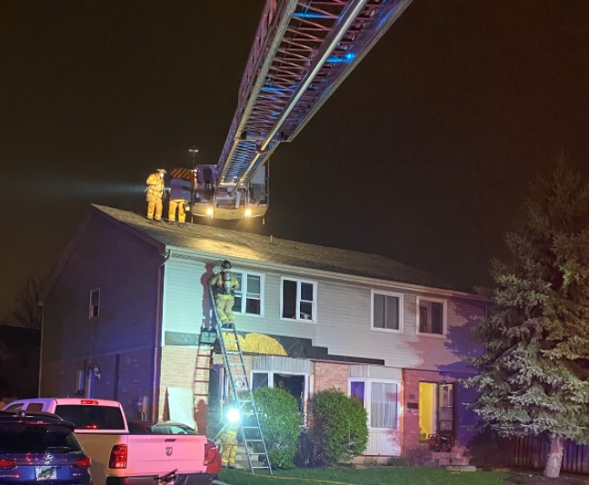 Firefighters responded to the two-story house on Bonventure Drive just after midnight.