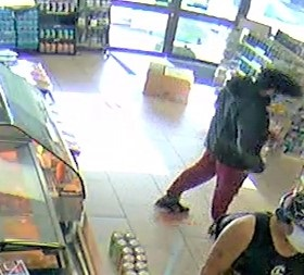 Bernard was captured on surveillance video at the 7-11 on May 14.