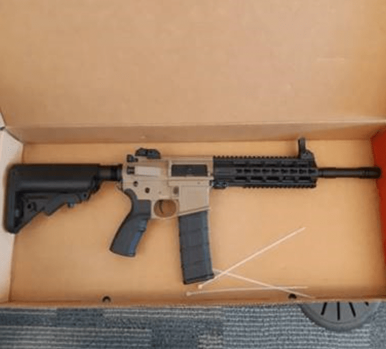 One of the weapons allegedly seized.