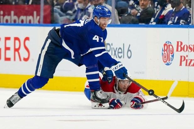 Leafs down Habs 2-1 in season opener