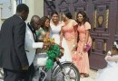 Nigerian Couple Ride On A Bike After Their Wedding In Rivers State [PHOTOS]