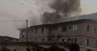 BREAKING: Storey-building guts fire at Ketu, Lagos (Photos)