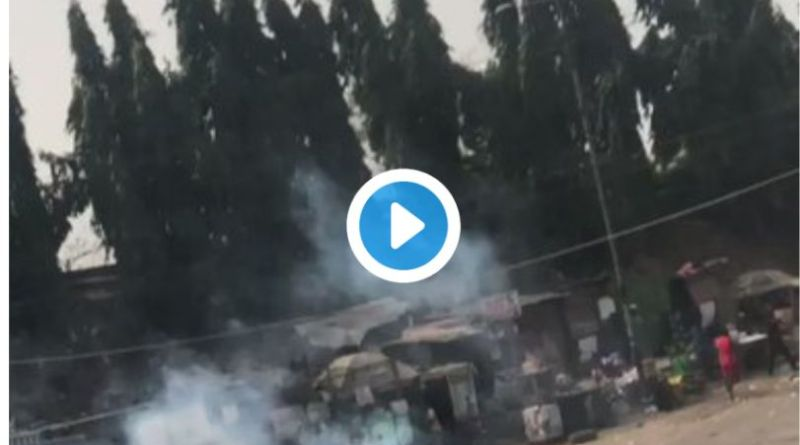 Okada Ban: Iyana-Ipaja turns Bloody as Okada Riders, Tricycle Drivers, Police Clashes in Iyana-Ipaja, Lagos (Videos)