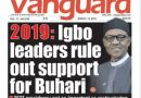 See the Newspaper where Igbo Leaders rule out support for President Buhari in 2019