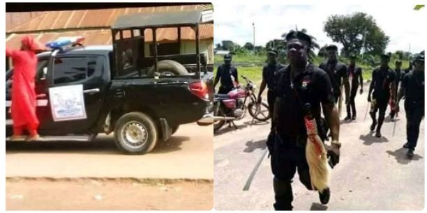 Local Security Outfit, Isakaba Storms Benin City To Hunt For Cultists (Photos)
