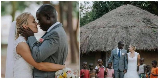 Meet the White woman that got married to a black man with 7 kids after wife left him for being poor (photos)