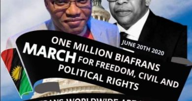 Biafra News: Nnamdi Kanu announces date for One Million Biafrans March for freedom