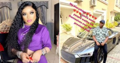Bobrisky Sends Romantic Congratulations Messages To Mompha On His New Acquired Luxury Car (Photos)
