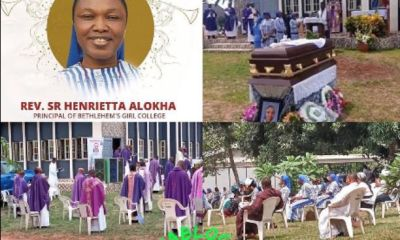 Lagos Explosion: Rev. Sister who died whilst saving her students, laid to rest in Atani -Uromi, Edo state (Photos)