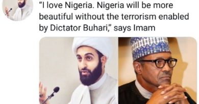 "#BuhariResign: Imam of Peace tag Buhari as ""PresidentCovik"" while attacking him on Twitter (Screenshot)"