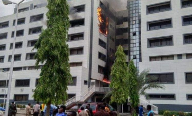 BREAKING: Fire Guts Office of the Accountant-General of the Federation