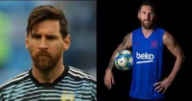 New look of Lionel Messi cuased stirs in social media after he shaved off his beards (Photos)