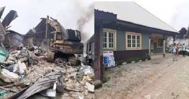 Gov. Wike Demolishes Two Hotels That Violated Lockdown Order In River State (Video)