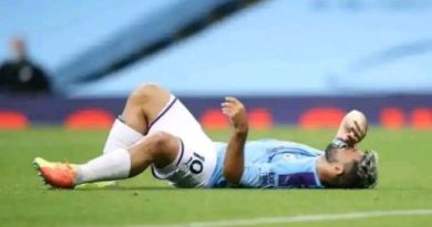 Aguero will miss Chelsea tie due to injury sustained against Burnley