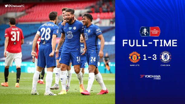 Manchester United 1-3 Chelsea, Watch Full Highlights as Blues through to FA Cup Final