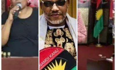 South African Pastor Gives Support To Nnamdi Kanu And Raises Biafra Flag In Church (Photos)
