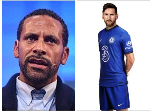 Rio Ferdinand Confirm Lionel Messi Move To Chelsea On Twitter (Screenshot)