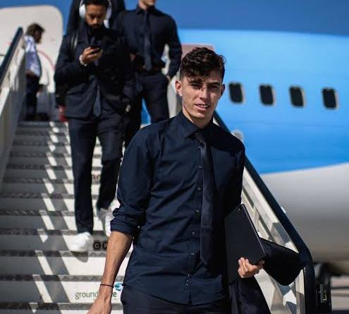 Kai Havertz arrives in London to completes Chelsea move as announcement to be make today
