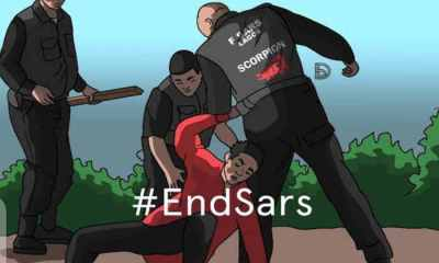 Kanye West, Drake, Trey Songz, Big Sean, 8 others joins End SARS protest in Nigeria