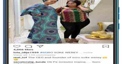 Toyin Afolayan reacts after a fan called her the CEO and founder of Soro Soke Werey