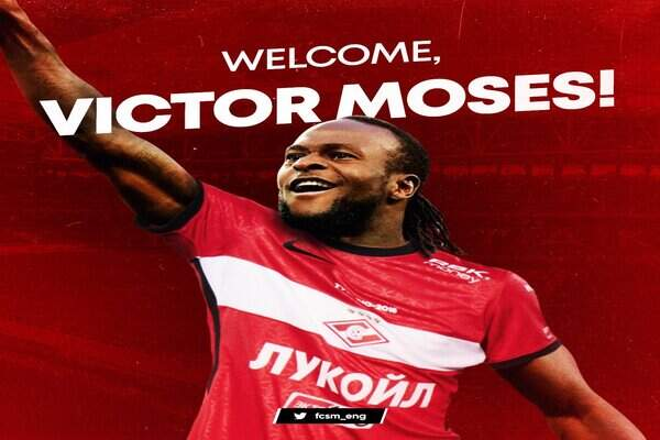 Spartak Moscow welcome Victor Moses on a season-long loan – The Global News  Nigeria