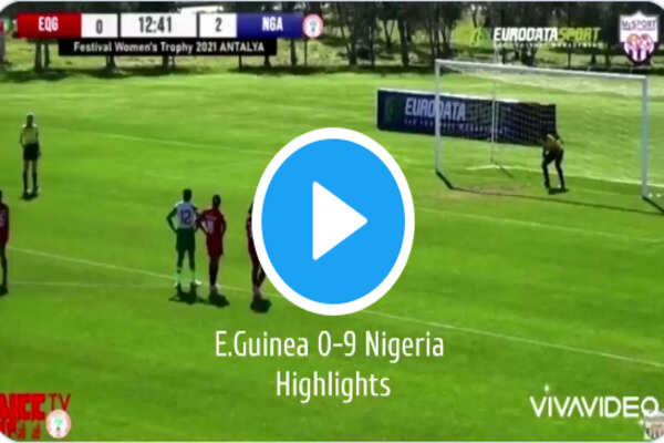 Equatorial Guinea 0-9 Nigeria Super Falcons Full Highlights And Commentary
