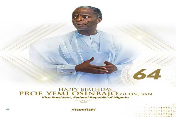 VP Prof. Yemi Osinbajo Celebrates 64th Birthday