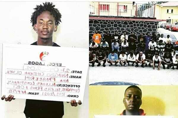 EFCC arrested Pankeeroy, 34 others for alleged internet fruad