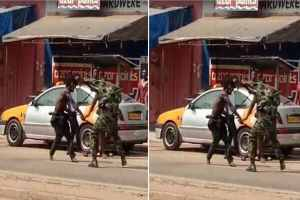 Street guys allegedly beat up 2 soldiers