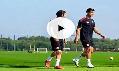 Watch amazing moments as Cristiano Ronaldo resumes training with Man United squad ahead Newcastle tie