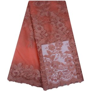 HaoLin African Lace Fabric High Quality Brocade Lace French Nigerian Lace Fabrics For Bride Women Wedding Party Dress Sewing