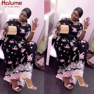 Kalume White Blue African Swiss Cotton Lace Fabric With Cord Laces Black Pink Nigerian Swiss Voile Lace For Dress Wedding H1673