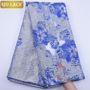 SJD LACE New Arrival African Lace Fabric High Quality Nigerian French Tulle Lace Fabric Jacquard Weave for Bridal Material A1880
