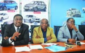L-R: Executive Director, Personal and Business Banking, Stanbic IBTC Bank, Mr. Obinnia Abajue; Deputy Group Managing Director, Coscharis Group, Mr. Okey Nwuke; and Executive Director, Personal Banking, Access Bank, Mr. Victor Etuokwu, at the partnership signing ceremony for the Coscharis Motors auto finance scheme in Lagos, recently