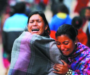 Nepal earthquake victims