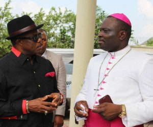 Governor of Anambra State, Chief Willie Obiano and Anglican Bishop of Afikpo, Rt. Rev Paul Udogu
