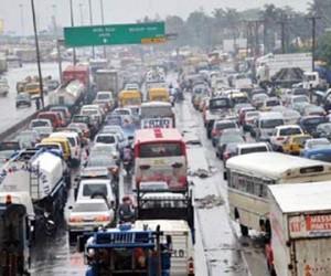 The Apapa Road traffic jam