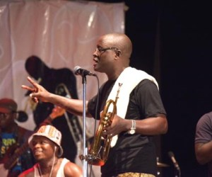 Biodun Batik performing at the Lagos Int'l Jazz Festival 2015