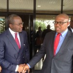 New SEC Chairman, Chief Peter Obi's first visit to the Commission