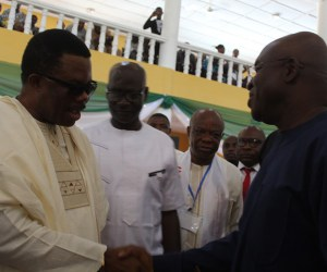 Governor Obiano and Senate President, David Mark at the ceremony