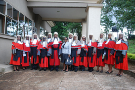 Group photograph of the Judges of Enugu State Judiciary during the valedictory court session in honour of Hon. Justice Louis Ogbonna Okereke at the Judiciary headquarters Enugu.